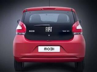 Tampa traseira do Fiat Mobi é toda de vidro