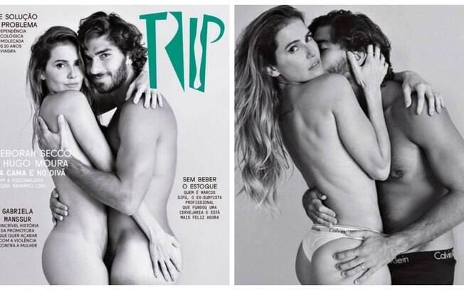 Deborah Secco e o marido Hugo Moura são capa da revista Trip no mês dos namorados!