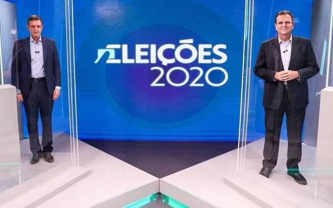 Paes e Crivella participam do último debate antes do segundo turno na TV Globo