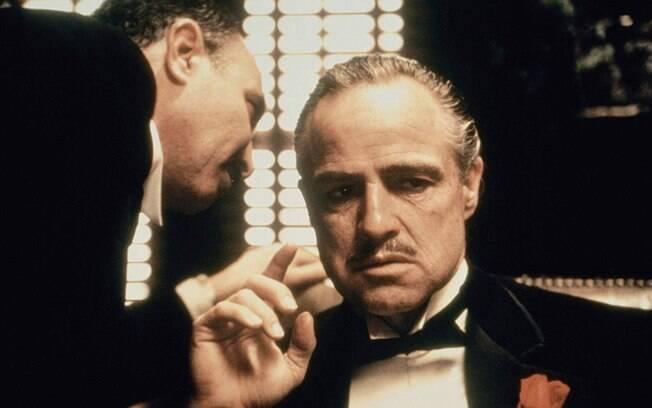 Marlon Brando em cena de O Poderoso Chefão