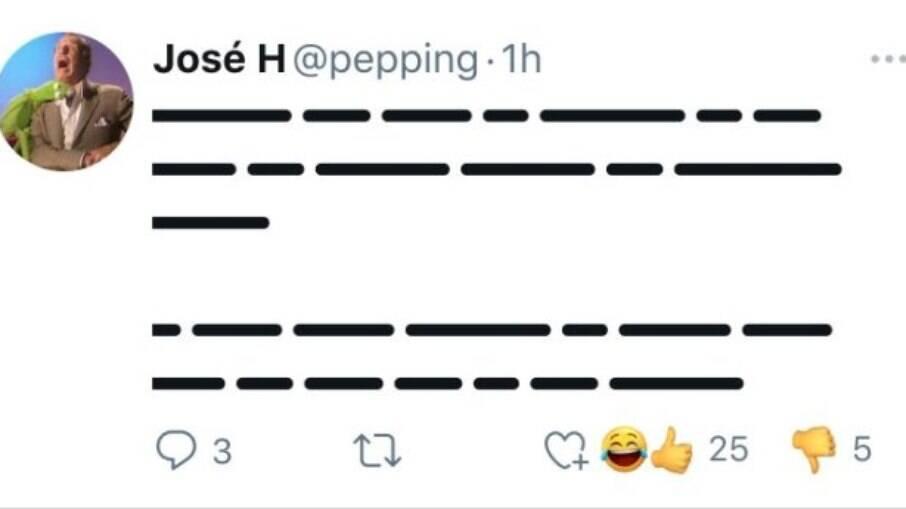 Emojis podem aparecer desta forma nas reações do Twitter