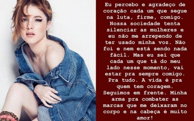 Jennifer Oliveira se posiciona sobre Douglas Sampaio inocentado