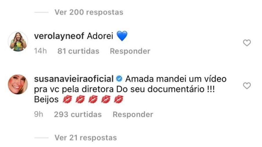 Comentário da atriz Susana Vieira