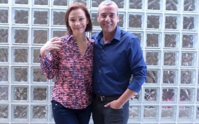 Alexandre Borges e Julia Lemmertz foram ao programa 'Encontro com Fátima Bernardes'