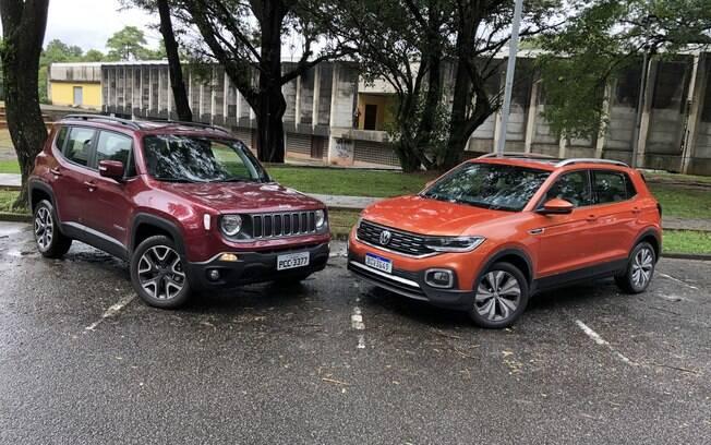 VW T-Cross é bem mais baixo que o rival Jeep Renegade, o que lhe confere uma pegada de hatch ao dirigir