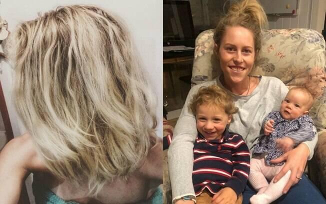 Virginia Tapp decidiu que não vai mais lavar o cabelo para ajudar o meio ambiente e já está oito meses sem xampu