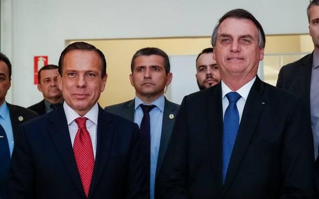 Governador de São Paulo, João Doria, e o presidente do Brasil, Jair Bolsonaro