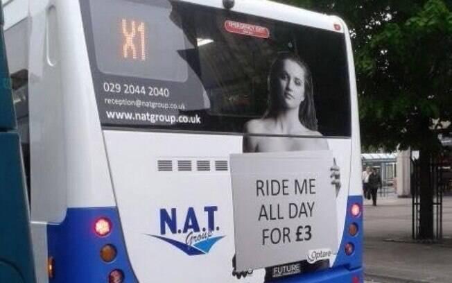 Propaganda no Reino Unido foi acusada de sexismo e de incentivo à prostituição