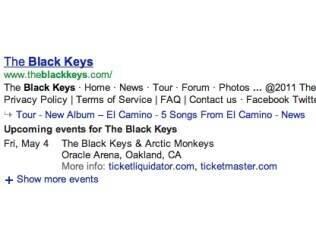 Datas e locais de shows aparecerão abaixo do site oficial da banda