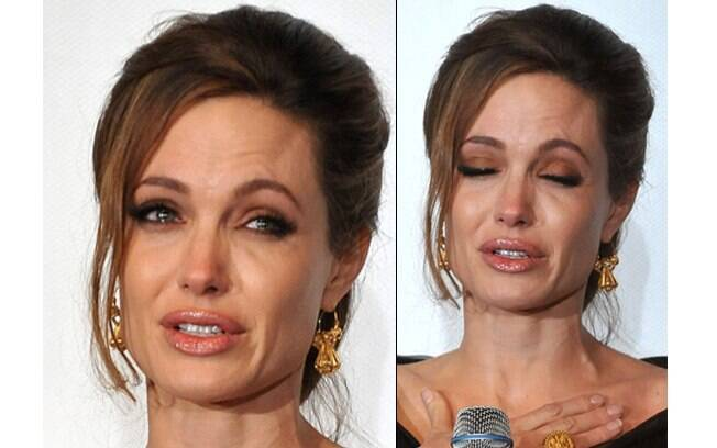 Angelina Jolie chora diante de cinco mil espectadores
