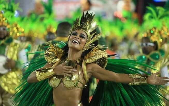 A última vez da atriz como rainha de bateria havia sido em 2008, quando ela defendeu as cores da Viradouro