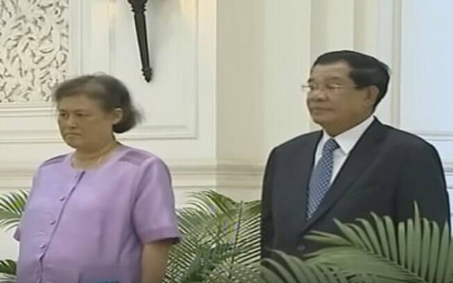 Princesa tailandesa Maha Chakri Sirindhorn recebida pelo primeiro-ministro do Camboja%2C Hun Sen