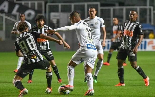 Atlético-MG e Santos ficaram no empate em 0 a 0 no primeiro jogo