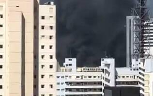 Incêndio atinge prédio do Instituto do Coração, o Incor, no centro de São Paulo
