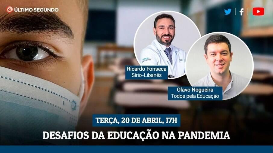 Live vai abordar o tema da educação na pandemia