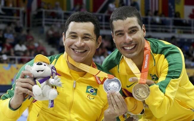 Clodoaldo Silva e Daniel Dias fizeram outra dobradinha no último dia da natação
