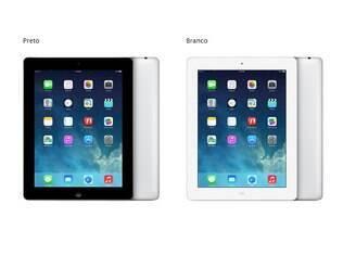 Quarta geração do iPad chegou no final de 2012 com tela retina está de volta ao mercado para substituir o iPad 2, de 2011