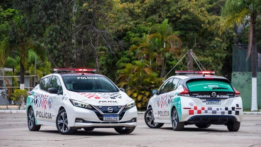 Nissan Leaf viatura: são apenas duas unidades que serão utilizadas pela Polícia Militar de São Paulo