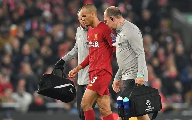 Fabinho se machucou e desfalca o Liverpool no Mundial de Clubes