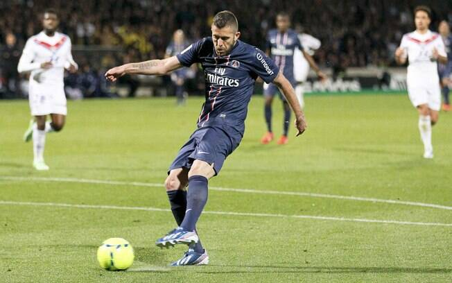 Menez fez o gol da vitória contra o Lyon, na  36ª rodada