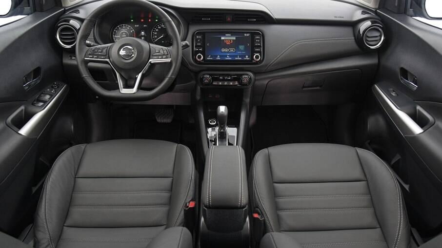 Nissan Kicks 2022: poucas mudanças no interior, que recebeu apenas melhorias na central multimídia