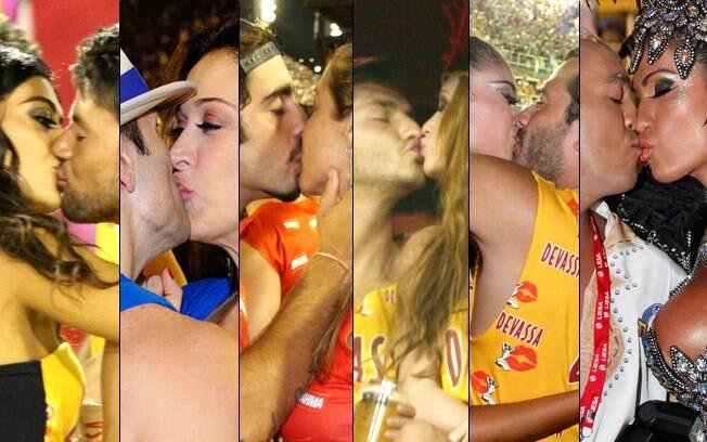 Famosos beijaram muito