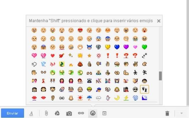 Gmail agora oferece oito vezes mais emoticons para usuários