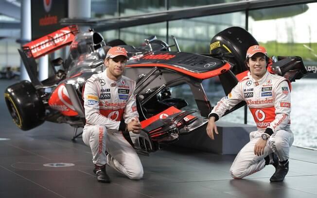 A grande novidade da McLaren é o mexicano  Sergio Pérez
