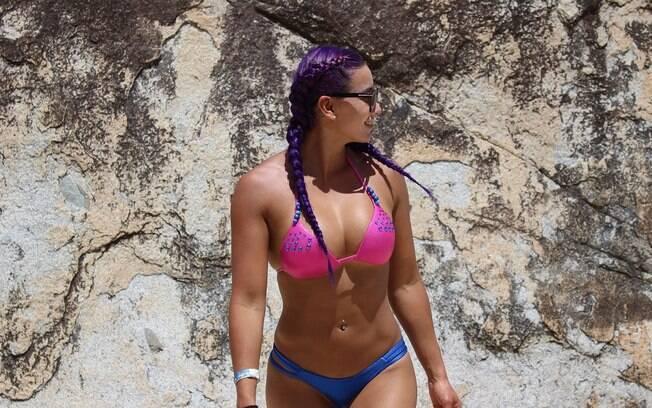 Gabi Castrovinci, lutadora brasileira. Foto: Arquivo pessoal - MF Models Assessoria