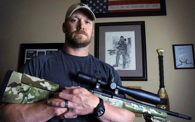 Chris Kyle, o militar que inspirou o filme 'Sniper Americano', em foto de 2012