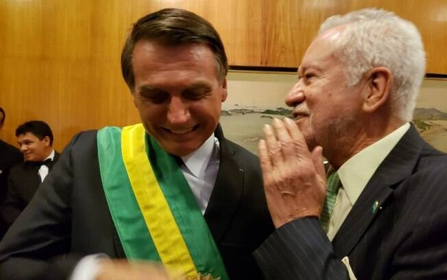Jair Bolsonaro e Alexandre Garcia no dia da posse presidencial