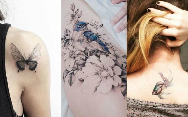 Da mesma forma que com gatos e cachorros, outros bichos podem servir de inspiração para tatuagens de animais