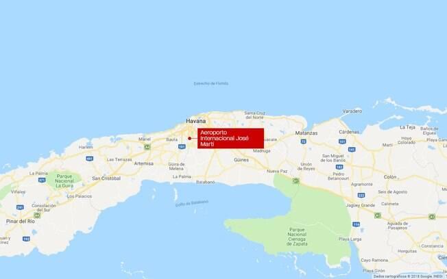 Local do acidente em Havana, Cuba