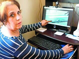 Vítima. Depois de trincar uma costela e cortar a perna em queda, pesquisadora Sônia Nilo quer ingressar com ação judicial contra Copasa