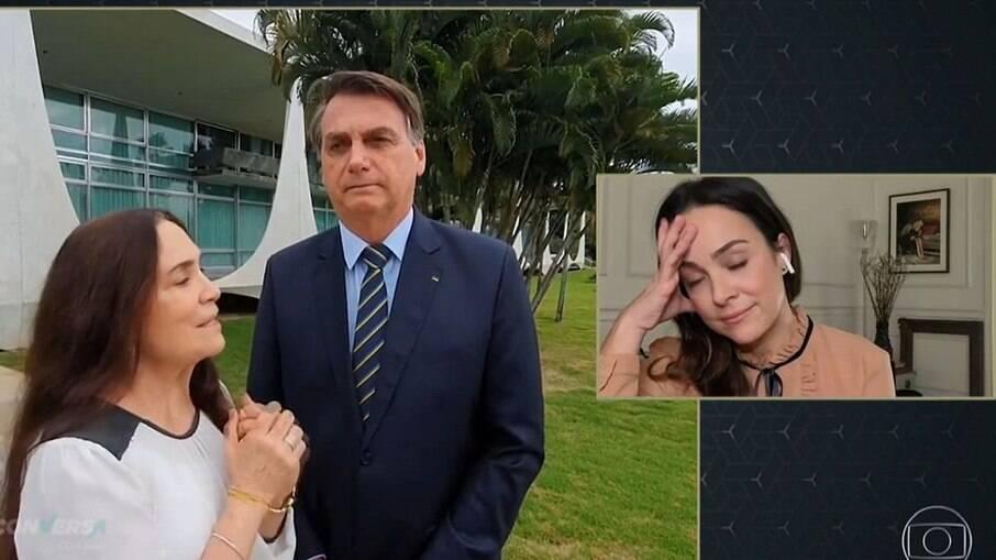 Gabriela Duarte reage à mãe com Bolsonaro