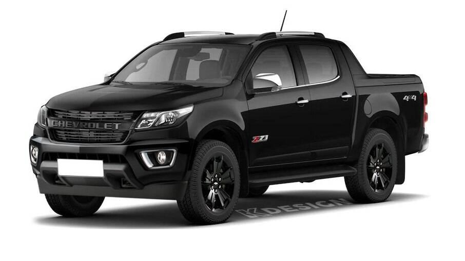 Projeção da Chevrolet S10 Z71 que chega no mês que vem e que será rival da Toyota Hilux GR-Sport