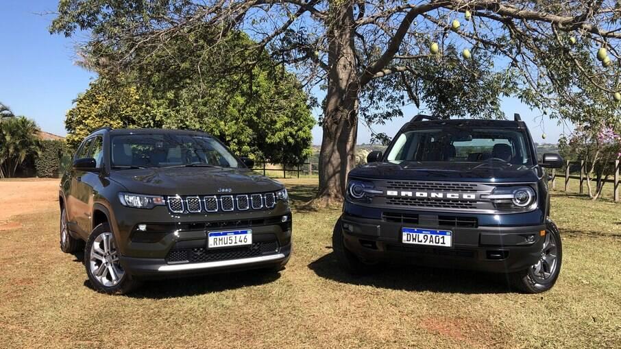 Ford Bronco Sport e Jeep Compass: alta qualidade e sofisticação em dois SUVs médios que acabam de chegar ao Brasil
