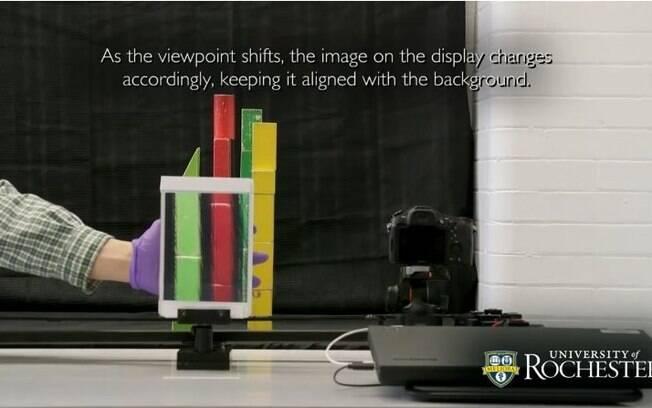 A capa de invisibilidade do Harry Potter faz com que seja possível ver através do objeto alvo, ao invés de contorná-lo