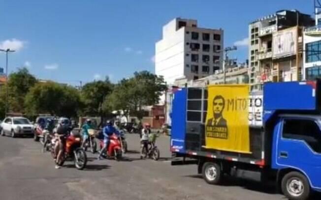 Carreata pró-Bolsonaro e contra quarentena