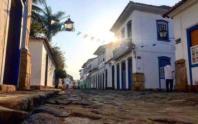Uma das ruas do centro histórico de Paraty