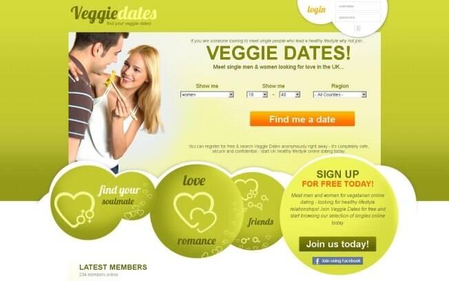 Site estimulava encontros amorosos entre vegetarianos