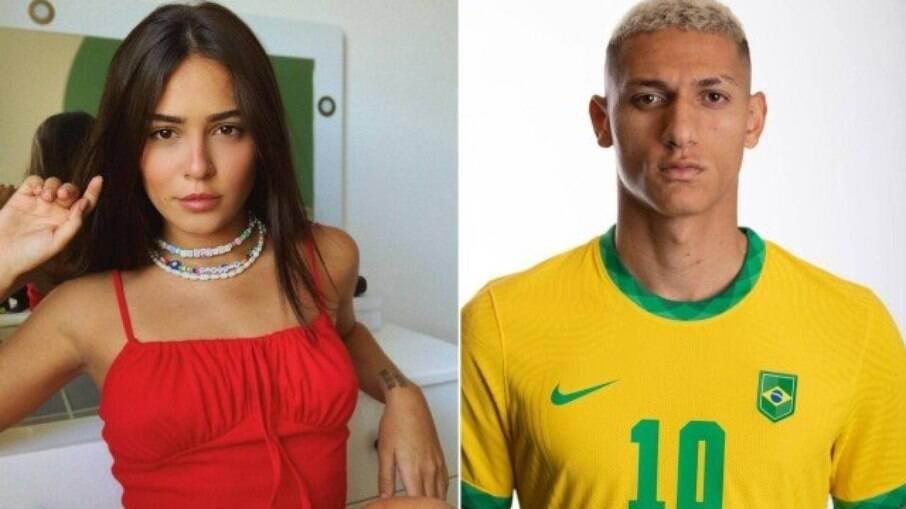 Giullia Buscacio e Richarlison trocaram corações na web