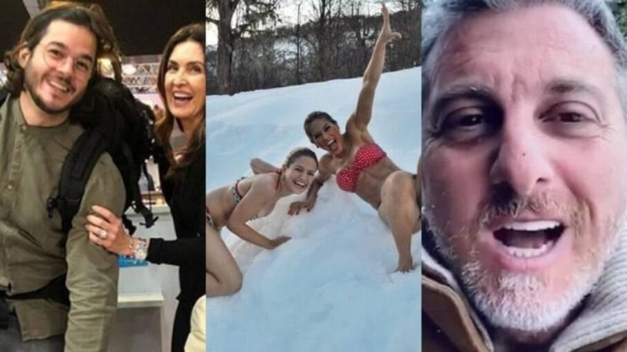Fátima Bernardes, Mayra Cardi e Luciano Huck visitaram o país