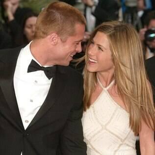 Brad Pitt e Jennifer Aniston em 2004, na première de