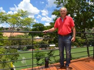 Técnico Alejandro Sabella esteve na Cidade do Galo, onde a Argentina vai treinar durante a Copa
