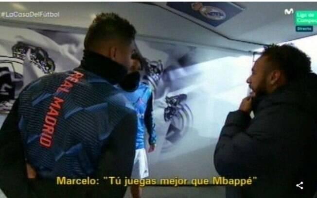 Conversa de Neymar, Marcelo e Casemiro