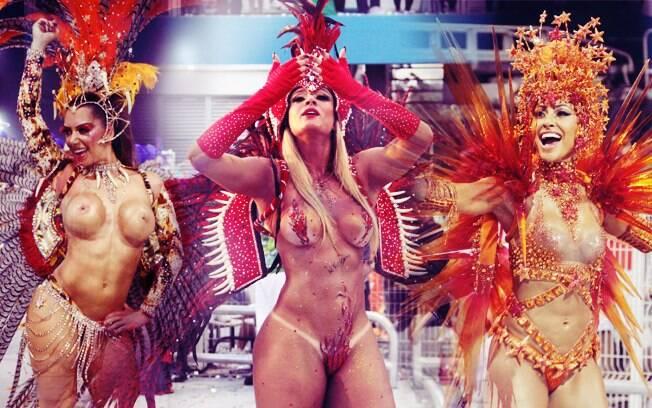 As famosas do carnaval de São Paulo mostraram seus corpos esculturais no sambódromo do Anhembi