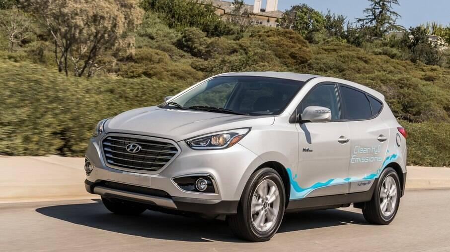Hyundai Tucson FCEV: corresponde ao ix35 vendido o Brasil, mas com motor que emite apenas vapor d´água pelo escapamento