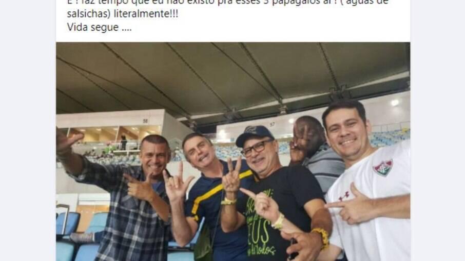 Postagem crítica de Queiroz a Bolsonaro. Recado?