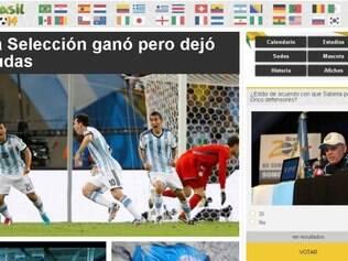 El Gráfico Diário criticou atuação da Argentina contra um adversário considerado fraco